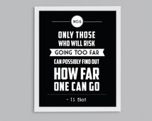 140.6 Ironman Triathlon T.S. Eliot Retro Print - Inspirational Exercise Quote