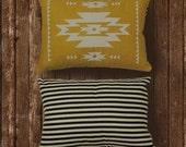 Modern Navajo - (mustard / black stripe)
