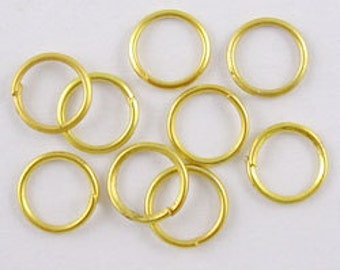 100 (4g) - 4mm Gold Tone Jump Rings