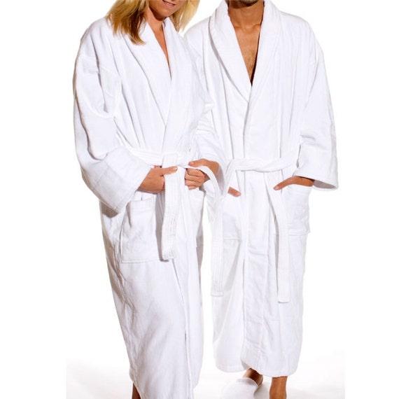monogrammed white velour robe gifts for men gifts for women