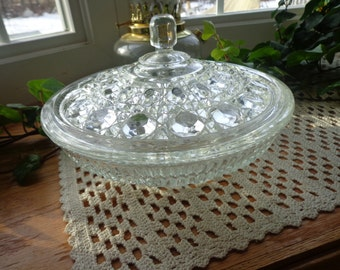Federal Windsor Crystal Candy Dish
