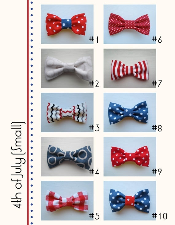Patriotic Fourth of July Assorted Handmade Hair Bow Variety - Small (one)