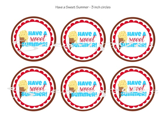 It is a photo of Sly Have a Sweet Summer Printable
