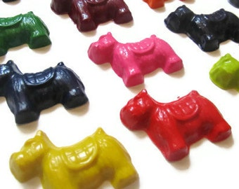 Dog crayons set of 10 - party favors