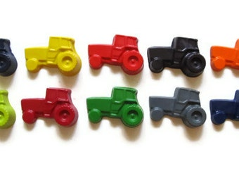 Tractor Crayons set of 10 - party favors - farm