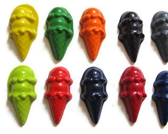 Double Scoop Ice Cream Crayons set of 10 - party favors