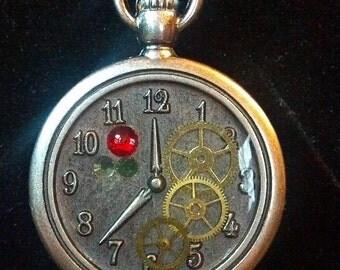 Steampunk Pocket Watch Reversible Necklace