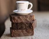 Coffee Mocha Soap -  Vegan-  Handmade - Cold Processed Soap