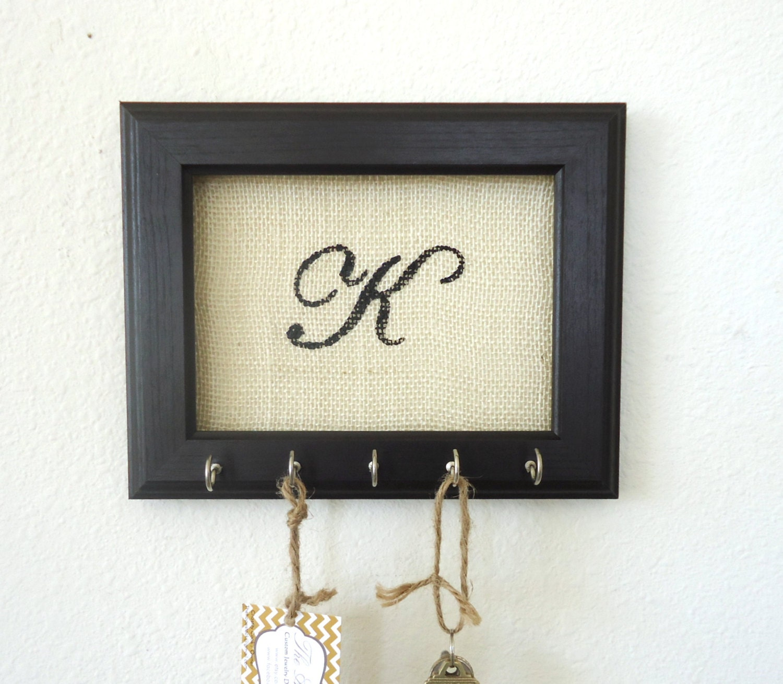key holder wall hook personalized gift frame by thehopestack. Black Bedroom Furniture Sets. Home Design Ideas