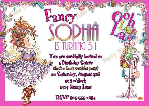 Top Items similar to Fancy Nancy Birthday Party Invitation - Printable  RF38