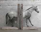 EQUINE COLLECTION hunter horse bookend in grey - EQUINEbyLauren