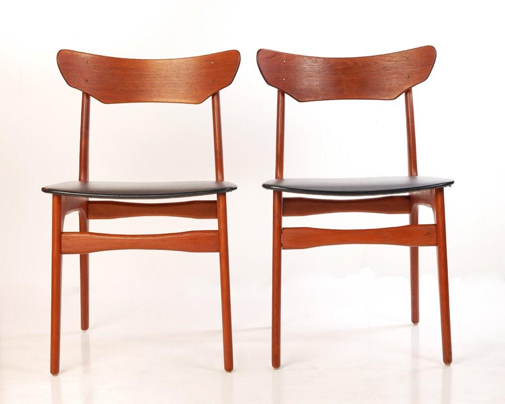 Mid Century Danish Chairs Schionning Elgaard Rander