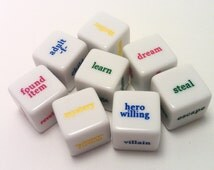 Inspiration Dice Mega Set (Unique gift for writers, artists, and RPG gamers. Perfect for NaNoWriMo and stocking stuffers for Christmas)