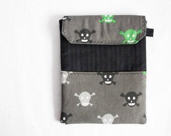 Rock Skulls iPad Sleeve Case, Black and Gray iPad Case Padding, iPad Case, Gift for him or her, School
