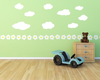 Cloud Decal - Wall Vinyl - Boys Room Decal - Girls Room Decal - Decals - Kids Room Decals - Vinyl Decal - Decal