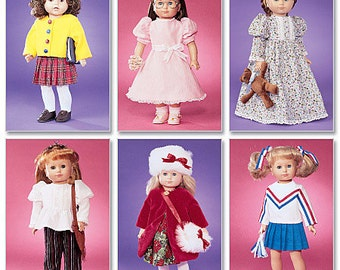 "McCalls 3900  18"" Doll Clothes Pattern, Dolls Wardrobe pattern"