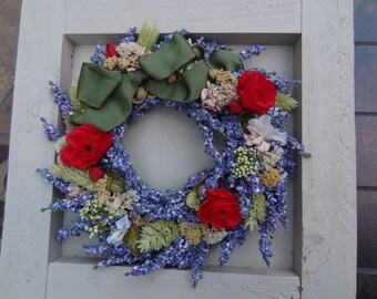 Mini Wreath In A Wooden Frame
