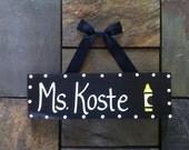 Teacher's Name Desk Sign Door Hanger