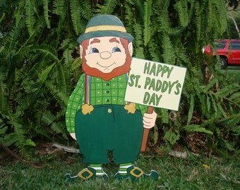 St. Patrick's Day Leprechaun Yard Sign