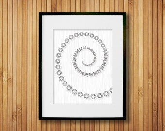 OM Yoga Art Print -  Yoga Prints - OM Decor - Fitness Studio Decor - Black & White Art - Yoga Wall Art - Om Wall Decor