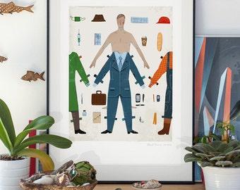 Anybody. llustration art giclée print signed by Pawel Jonca (me). A2 poster.