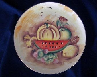 Vintage Enesco Decorative Fruit Plate