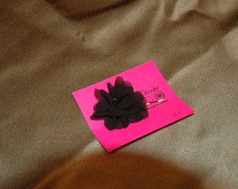 Black Floral Bobby Pin - One Pin