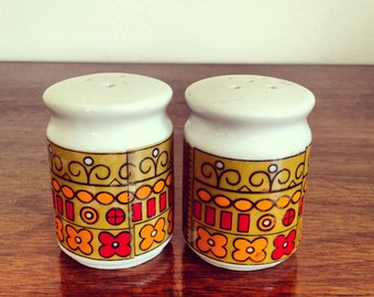 1970's Porcelain Salt & Pepper Shakers.