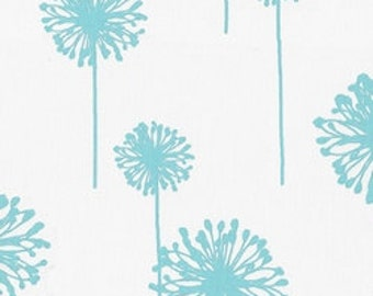 Pick your yardage Baby Blue/Aqua Blue Fabric Floral Print