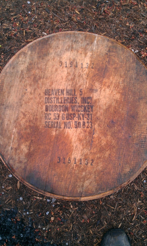 Heaven Hill Bourbon Whiskey Barrel Head Lid