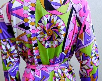 Op Art Maxi Dress Saks Fifth Avenue Gown Medium