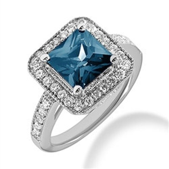 3 65ct princess cut blue topaz by