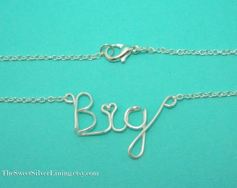 Sorority Big Sister Necklace • Sorority Gift Jewelry • Big Little Reveal • Big Little Sister Gifts