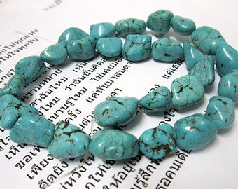 1 strand Natural  Turquoise stone  random sharp beads