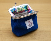 Harris Tweed Clasp Coin Purse Handmade to Order in Scotland