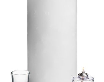 """Luminary Candle in White, 6"""" x 12"""""""