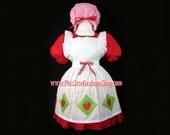 STRAWBERRY SHORTCAKE Plus Size Halloween Costume Adult Womens Size 1X 2X 3X 4X 5X - 4 pcs New