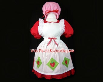 STRAWBERRY SHORTCAKE Plus Size Halloween Costume Adult Womens Size 1X 2X 3X 4X 5X - 4 pcs New