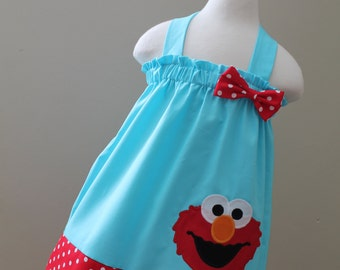 Elmo Halter Style dress ( Available any colors)