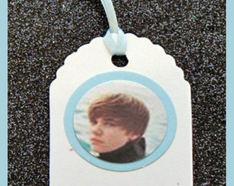 Justin Beiber birthday party gift tags- Justin Beiber party gift tags- set of 10