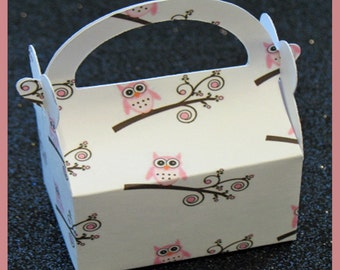 owl party favor box, owl birthday favor box, owl jewelry box, owl shower favor box