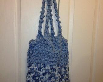 Blue over the shoulder bag
