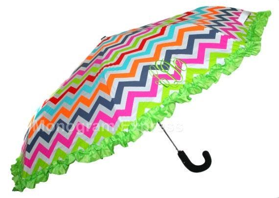 Chevron Multi Colored Umbrella