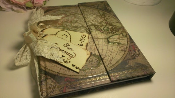 shabby chic guest book vintage wedding guest book vintage