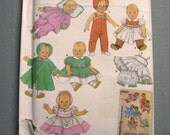 Simplicity Archives 4707 Sewing Pattern S M L Doll Clothes Uncut Factory Folded Re-issue 3669