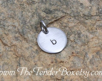 Add on 1/2 inch hand stamped pendant Mother's day