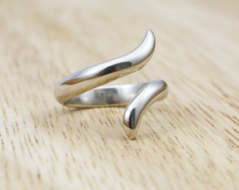 Sterling Silver Handmade Split Ring - made to order in your size