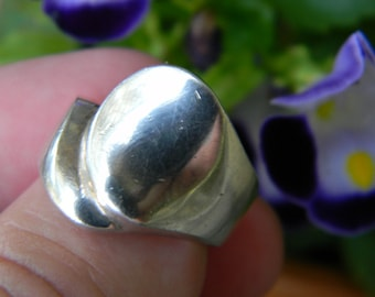 Amazing Classic Fashion Fun Band 925 Sterling Silver Unique Band Ring Size 8 #4816