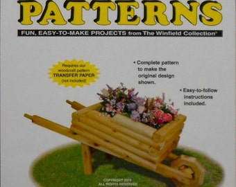 Wheel Barrow Flower Planter Woodcraft Pattern