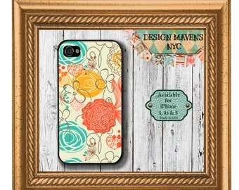 Blooming Floral iPhone Case, Floral iPhone Case, Plastic iPhone Case, Fits iPhone 4, 4s, iPhone 5, 5s, iPhone 5c, iPhone 6, 6s, 6 Plus